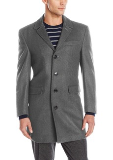 Calvin Klein Men's Slim Fit Wool Blend Top Coat Jacket   Regular