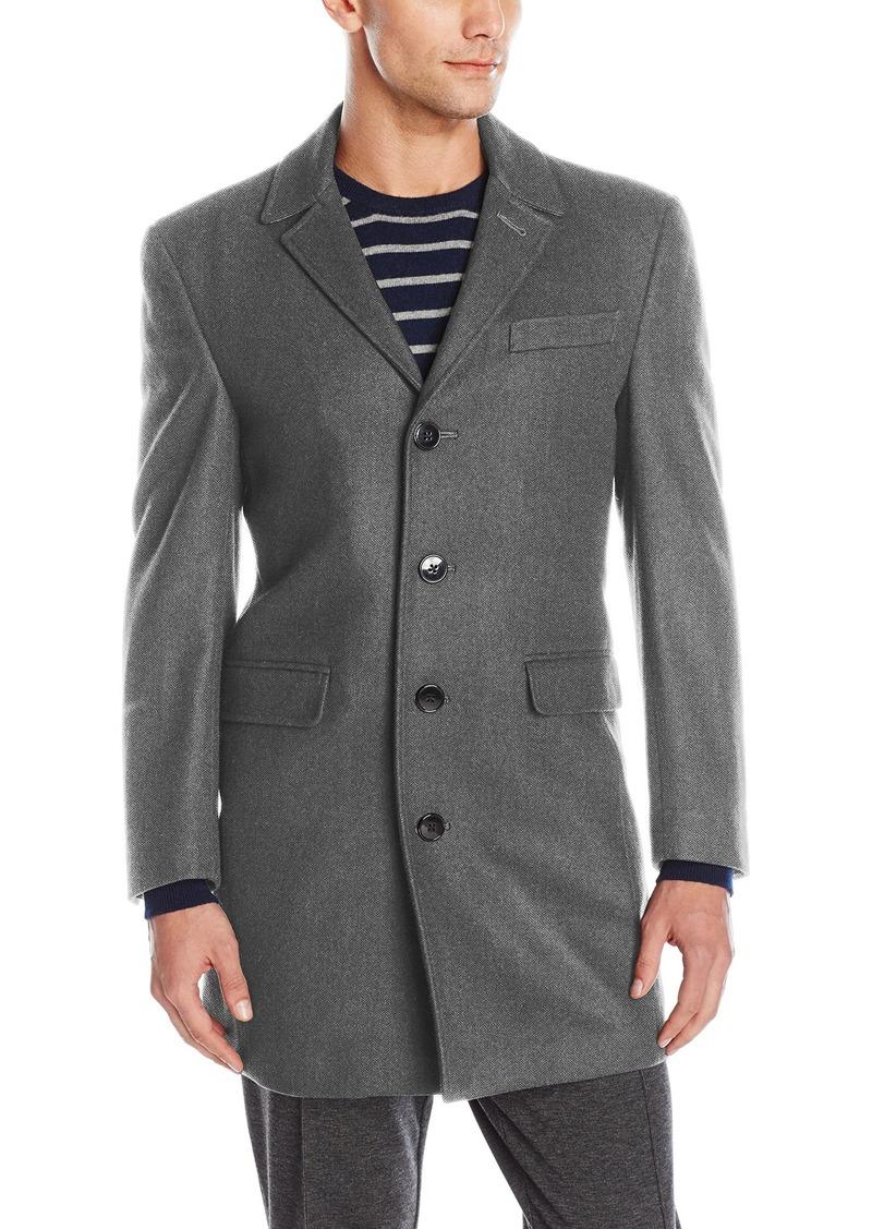 Calvin Klein Men's Slim Fit Wool Blend Top Coat Jacket   Regular