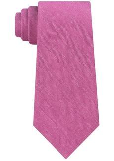 Calvin Klein Men's Slim Herringbone Tie