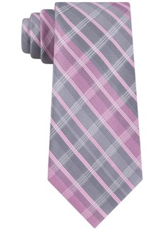 Calvin Klein Men's Slim Highlight Plaid Silk Tie