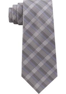 Calvin Klein Men's Slim Plaid Tie