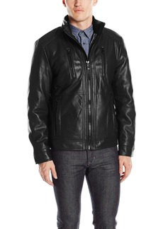 Calvin Klein Men's Smooth Faux Leather Jacket