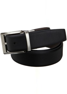 Calvin Klein Men's Smooth Leather Reversible Belt Black/Brown