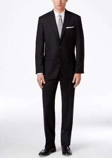 Calvin Klein Men's Solid Black Modern-Fit Suit