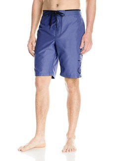 Calvin Klein Men's Solid Logo E-Board Swim Short