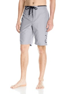 Calvin Klein Men's Solid Logo E-Board Swim Short