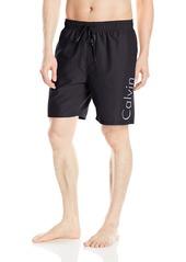 Calvin Klein Men's Solid Logo Volley Swim Trunk