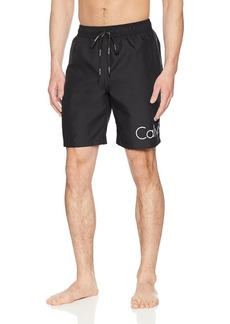 Calvin Klein Men's Solid Logo Volley Swim Trunk  Extra Extra Large