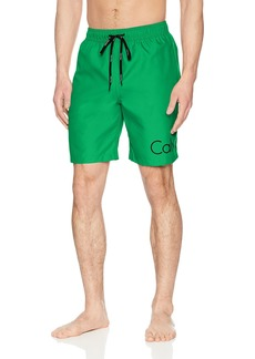 Calvin Klein Men's Solid Logo Volley Swim Trunk  Extra Large
