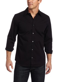 Calvin Klein Men's Solid Stretch Free Fit Woven Shirt