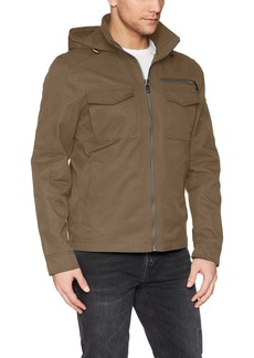 Calvin Klein Men's Spring Anorak Jacket with Pocket Detail Chocolate chip