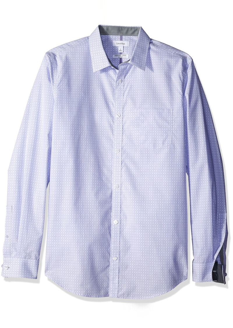 Calvin klein calvin klein men 39 s square cross dobby for Cool long sleeve button up shirts
