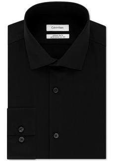 Calvin Klein Men's Steel Extra-Slim Fit Non-Iron Performance Stretch Herringbone Dress Shirt