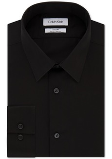 Calvin Klein Men's Steel Slim-Fit Non-Iron Performance Perfect Collar Solid Dress Shirt
