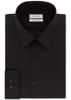 Calvin Klein Men's Steel Slim-Fit Non-Iron Performance Stretch Jade Black Dress Shirt