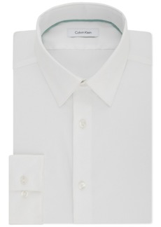 Calvin Klein Men's Steel Slim-Fit Non-Iron Performance Stretch Point Collar White Dress Shirt