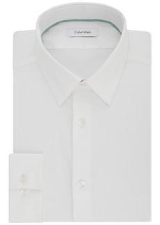 Calvin Klein Men's Steel Slim-Fit Non-Iron Performance Stretch Point Collar White Dress Shirt