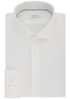Calvin Klein Men's Steel Slim-Fit Non-Iron Performance Stretch Spread Collar White Dress Shirt