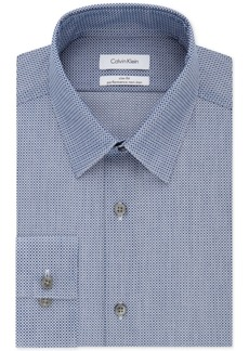 Calvin Klein Men's Steel Slim-Fit Non-Iron Stretch Performance Print Dress Shirt