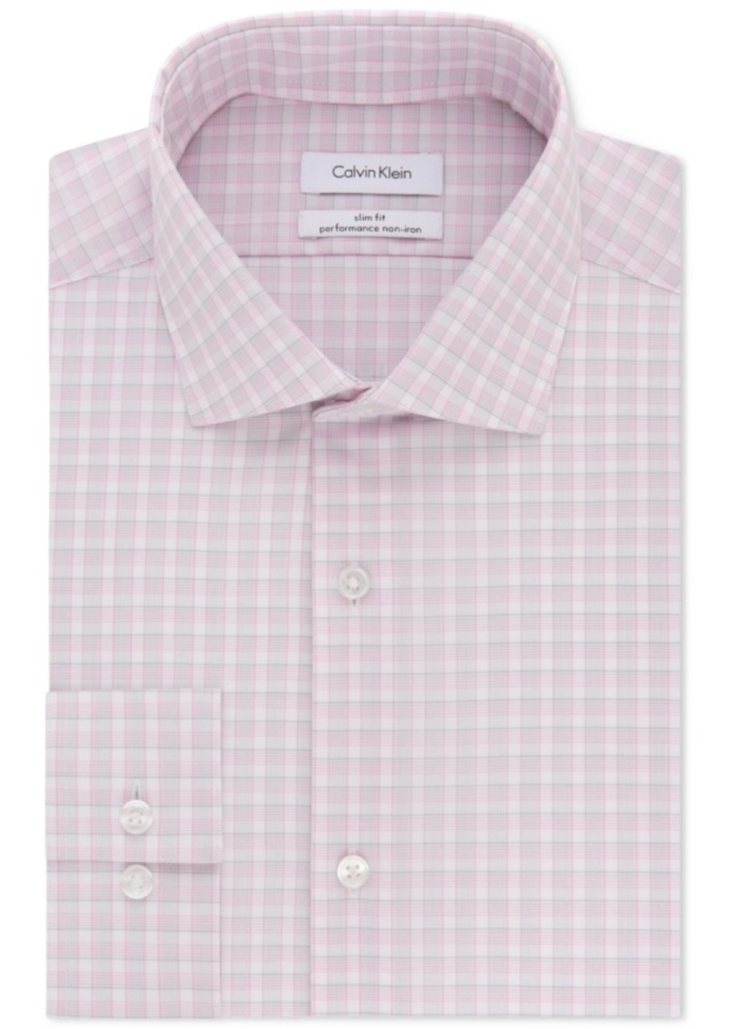 Calvin klein calvin klein men 39 s steel slim fit non iron for Calvin klein slim fit stretch shirt