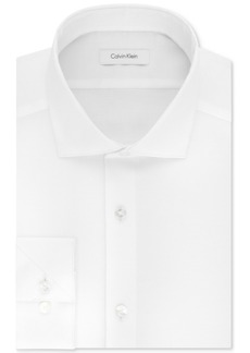 Calvin Klein Men's Steel Slim-Fit Non-Iron Stretch Performance Unsolid Dress Shirt