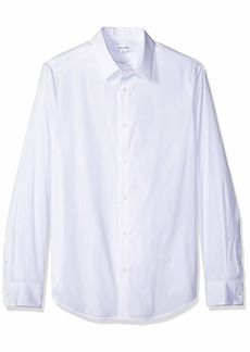 Calvin Klein Men's Stretch Cotton Button Up Shirt