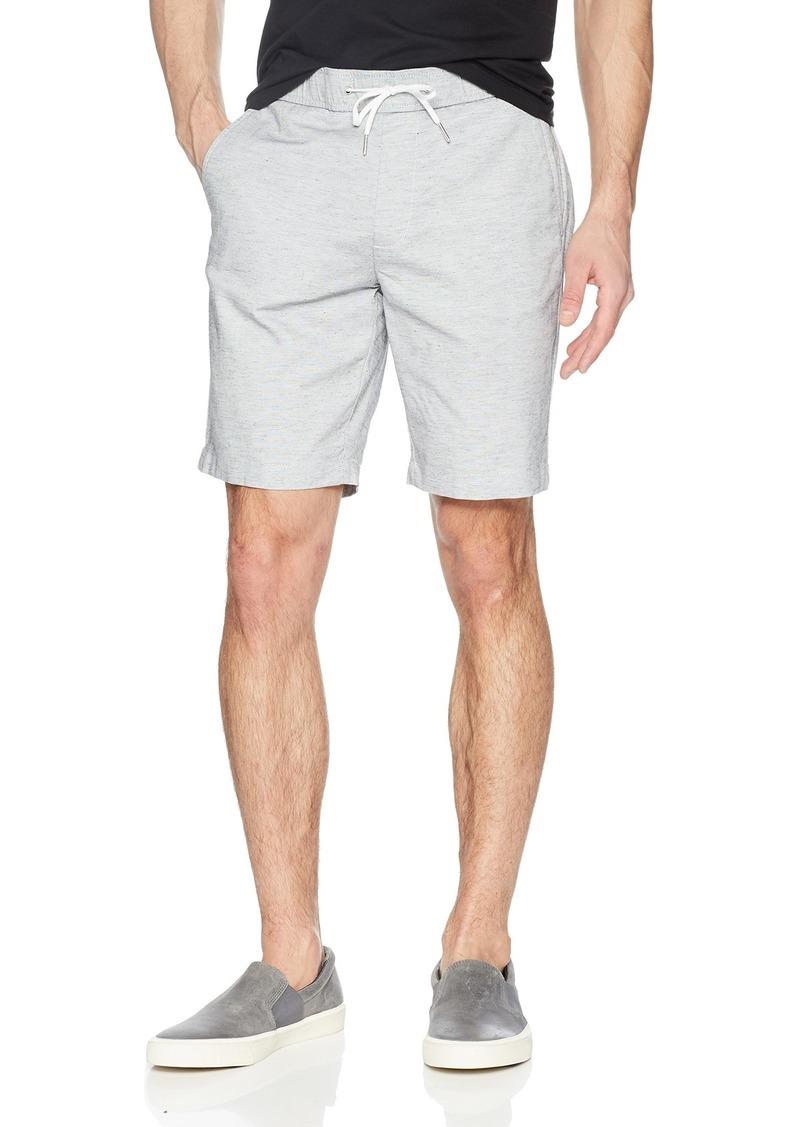 Calvin Klein Men's Stretch Linen Chambray Shorts with Drawstring  L