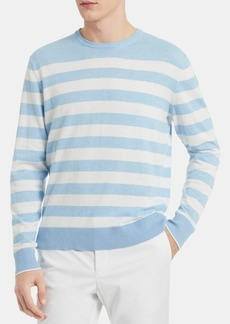 Calvin Klein Men's Striped Logo Sweater