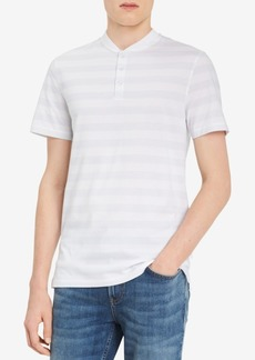 Calvin Klein Men's Striped Pima Cotton Henley T-Shirt