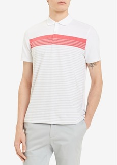 Calvin Klein Men's Liquid Touch Striped Polo