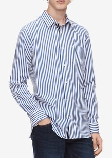 Calvin Klein Men's Striped Set-On Placket Shirt