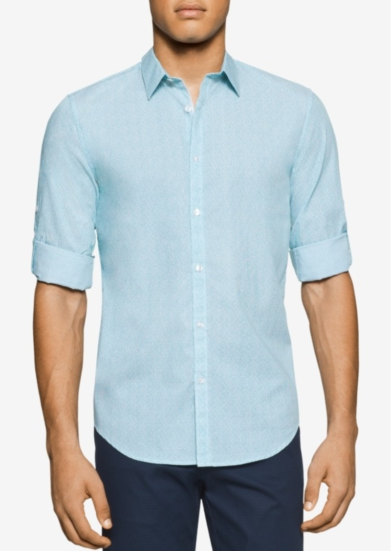 Calvin Klein Men's Swirl Dot Long-Sleeve Shirt