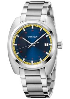 Calvin Klein Men's Swiss Achieve Stainless Steel Bracelet Watch 40mm x 49.75mm
