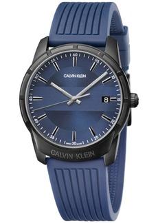 Calvin Klein Men's Swiss Evidence Blue Rubber Strap Watch 42mm