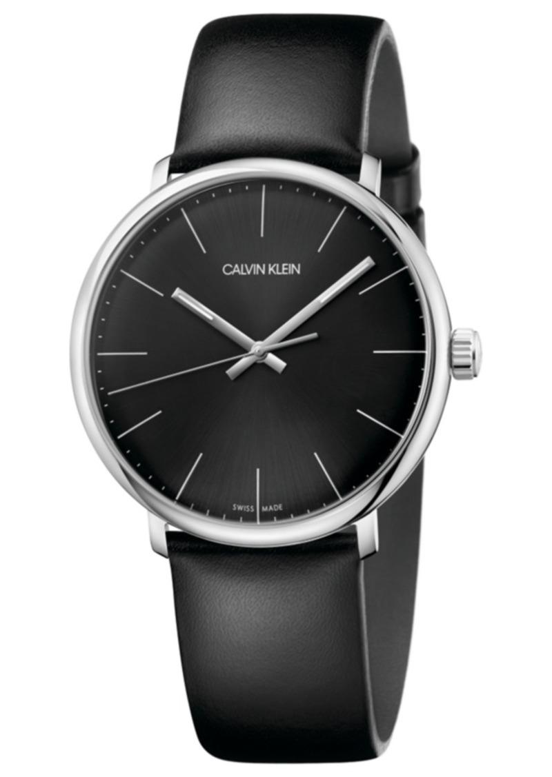 248e3db96 Calvin Klein Calvin Klein Men s Swiss High Noon Black Leather Strap ...