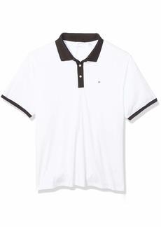 Calvin Klein Men's Big Short Sleeve Jacquard Polo Shirt