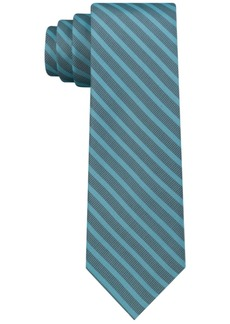 Calvin Klein Men's Tech Skinny Tonal Stripe Silk Tie