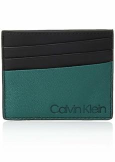 Calvin Klein Men's Textured Card Case Armour green