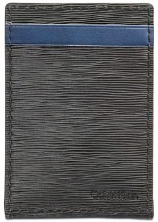 Calvin Klein Men's Textured Leather Card Case