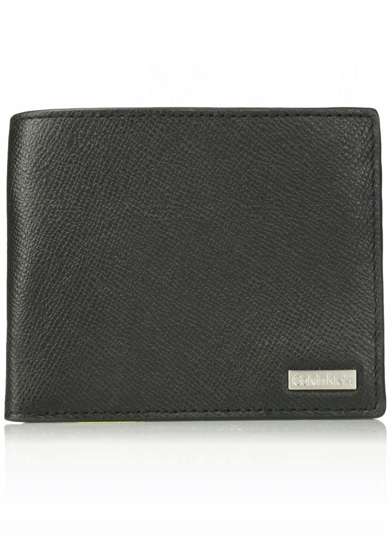Calvin Klein Men's Textured Leather Slimfold Wallet