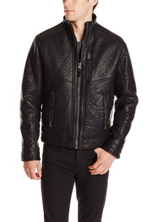 Calvin Klein Men's Textured Moto Jacket