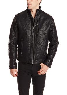 Calvin Klein Men's Textured Moto Jacket