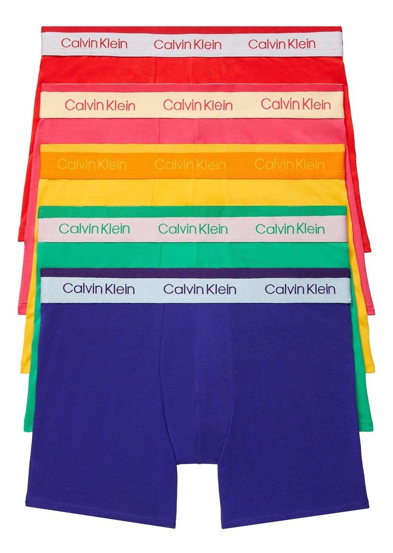 Calvin Klein Men's The Pride Edit 5-Pack Boxer Brief Fury/Freedom/Chrissie Pink/North Star/Summer