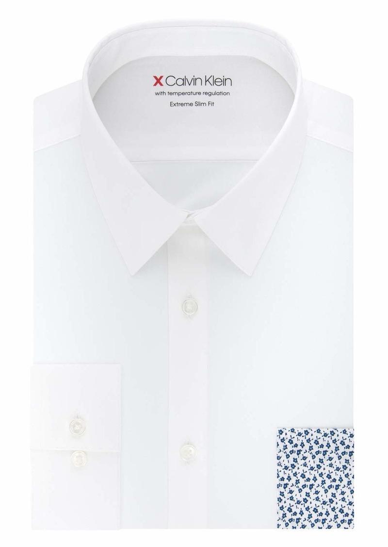 Calvin Klein Men's Thermal Stretch Xtreme Slim Fit Solid Dress Shirt