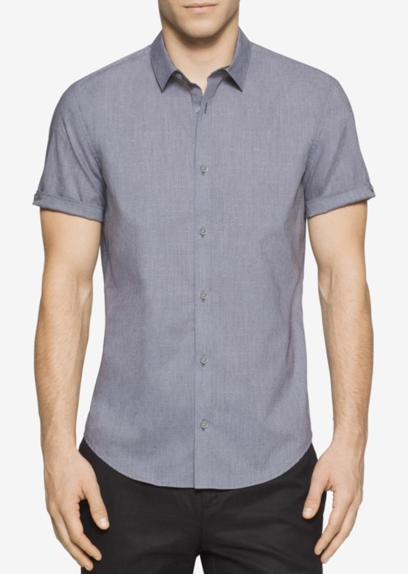 Calvin Klein Men's Tile Dobby Short-Sleeve Shirt