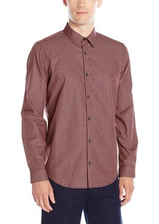 Calvin Klein Men's Long Sleeve Woven Button Down Shirt  Medium