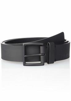 Calvin Klein Men's Tonal Printed Logo Belt black