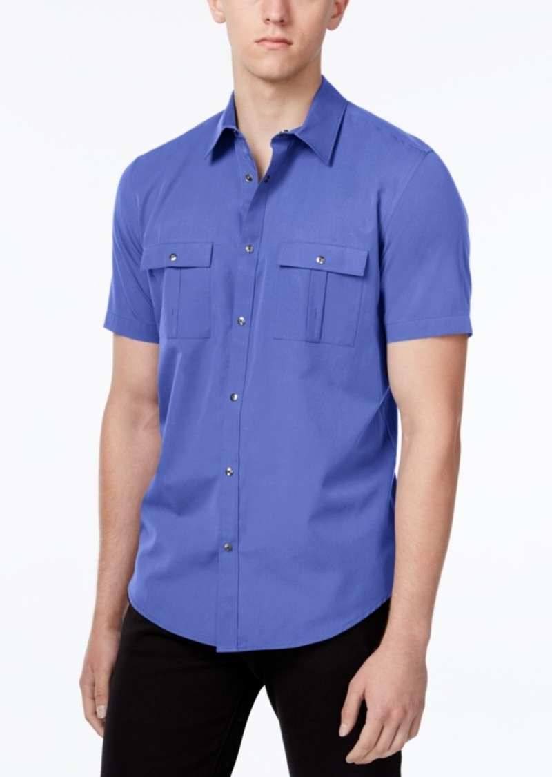 Calvin Klein Men's Two-Pocket Short-Sleeve Shirt