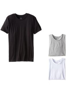 Calvin Klein Men's Undershirts Cotton Classics 3 Pack Crew Neck TshirtsMulti