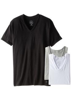 Calvin Klein Men's Undershirts Cotton Classics 3 Pack V Neck Tshirts